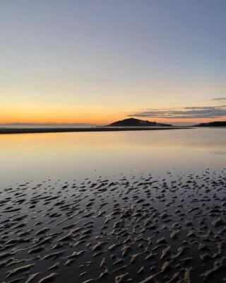No snow for us... just frost and a magical sunset! 🌅   #Bantham #BanthamDevon #Winter  #Countryside #Beach #Frost #Devon