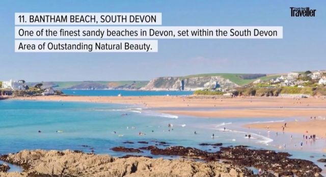 We are delighted to be listed on #Conde #Naste #travellers 2021 best beaches in the UK!  Our team works hard to maintain the Estate to the highest standard and it is an honour to be recognised by such a publication.   We may be a little biased.. But we do believe this is the best beach in the UK? 😉  #Bantham #Devon #DJI #Aonb #Love #Autumn